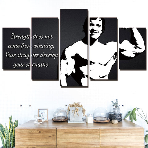 Arnold Schwarzenegger Quote 5 Panel Canvas Print Wall Art Canvas Print Got It Here
