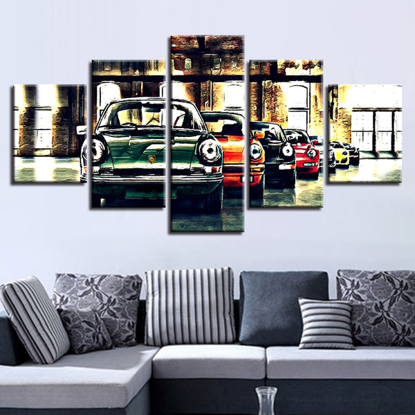 Porsche Evolution Of The 911 5 Panel Canvas Print Wall Art Canvas Print Got It Here