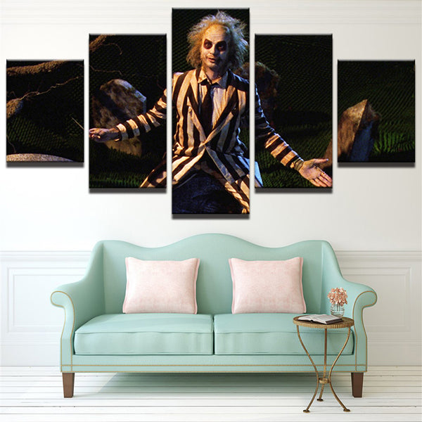 Beetlejuice 5 Panel Canvas Print Wall Art Canvas Print Got It Here