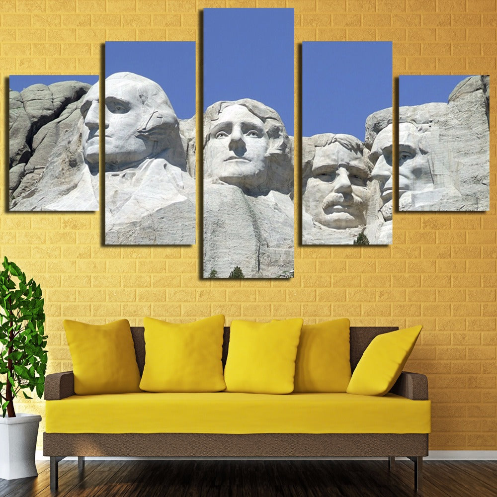 Mount Rushmore 5 Panel Canvas Print Wall Art Mt. Canvas Print Got It Here