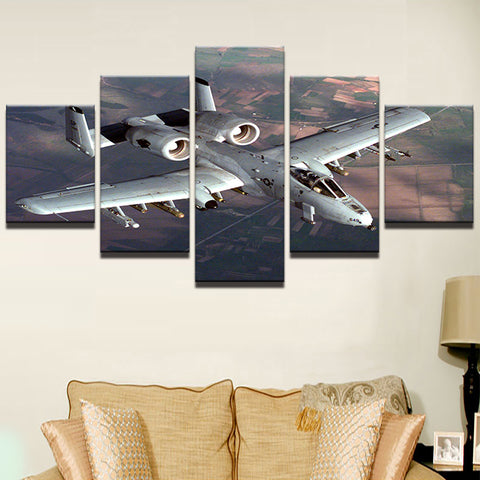 A-10 Thunderbolt Warthog 5 Panel Canvas Print Wall Art Canvas Print Got It Here
