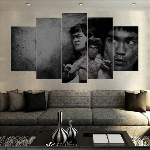 Bruce Lee Enter The Dragon 5 Panel Canvas Print Wall Art Canvas Print Got It Here