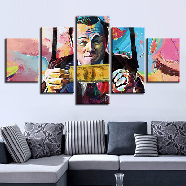 Wolf Of Wall Street 5 Panel Canvas Print Wall Art Canvas Print Got It Here