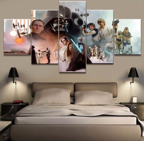Star Wars Collage 5 Panel Canvas Print Wall Art Canvas Print Got It Here