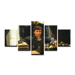 Scarface Tony Montana 5 Panel Canvas Print Wall Art Canvas Print Got It Here