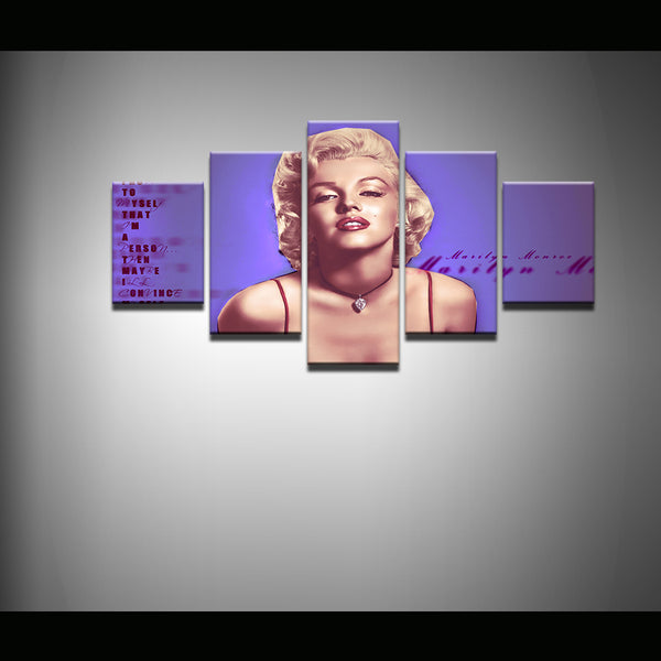 Marilyn Monroe 5 Panel Canvas Print Wall Art