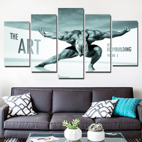 Art Of Bodybuilding Volume 1 5 Panel Canvas Print Wall Art Canvas Print Got It Here