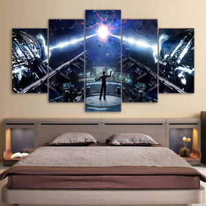 Enders Game 5 Panel Canvas Print Wall Art