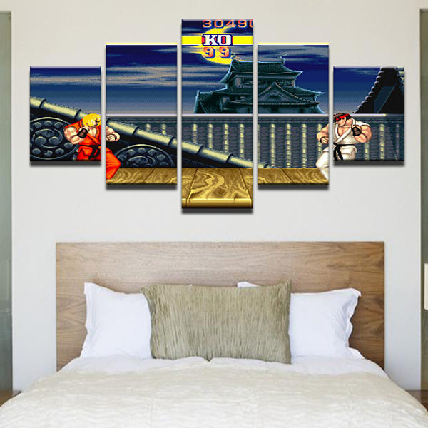 Street Fighter 5 Panel Canvas Print Wall Art