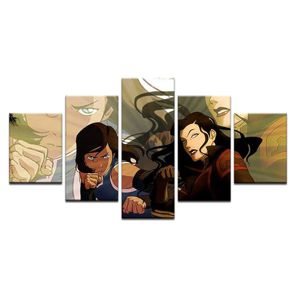 Legend of Korra 5 Panel Canvas Print Wall Art