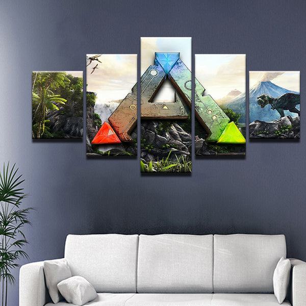 ARK: Survival Evolved 5 Panel Canvas Print Wall Art