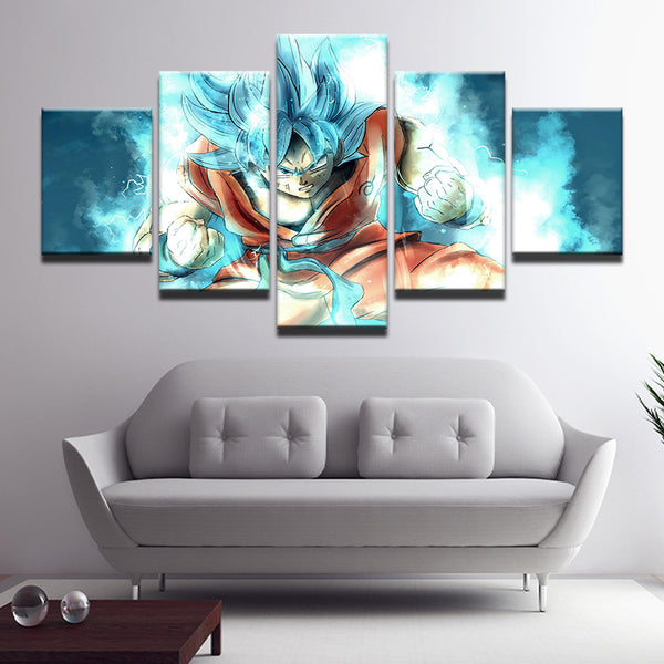 Dragon Ball Super Son Goku Monkey King 5 Panel Canvas Print Wall Art