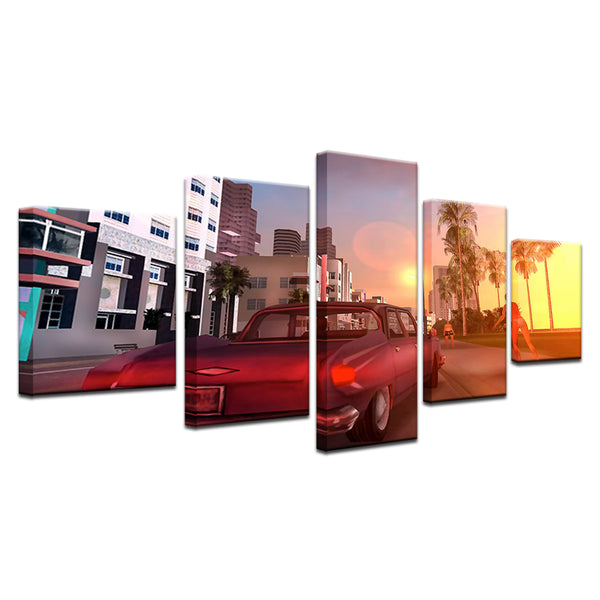 Grand Theft Auto III GTA 3 5 Panel Canvas Print Wall Art