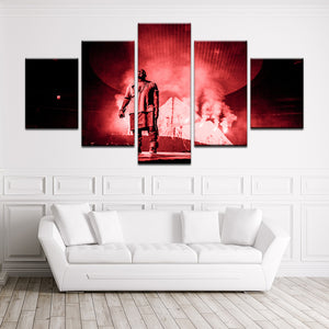 Kanye West 5 Panel Canvas Print Wall Art