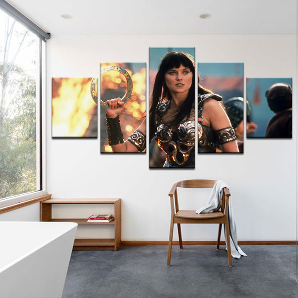 Xena: Warrior Princess 5 Panel Canvas Print Wall Art