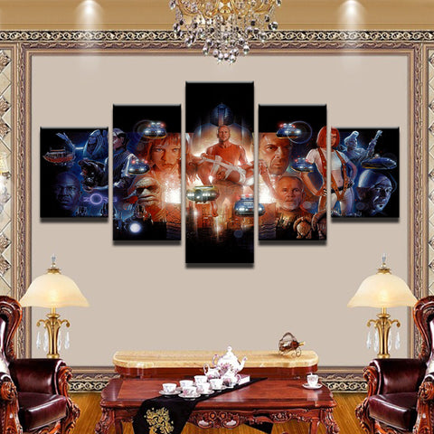 Fifth Element 5 Panel Canvas Print Wall Art