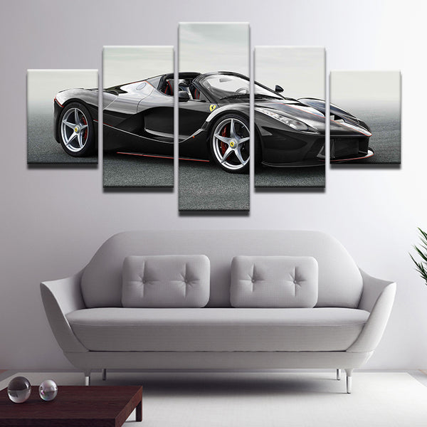 Ferrari LaFerrari Aperta 5 Panel Canvas Print Wall Art