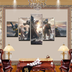 Destiny 2 5 Panel Canvas Print Wall Art