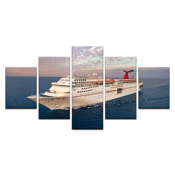 Carnival Cruise Lines Ecstasy Ship 5 Panel Canvas Print Wall Art
