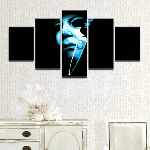 Halloween Horror Movie Michael Myers 5 Panel Canvas Print Wall Art