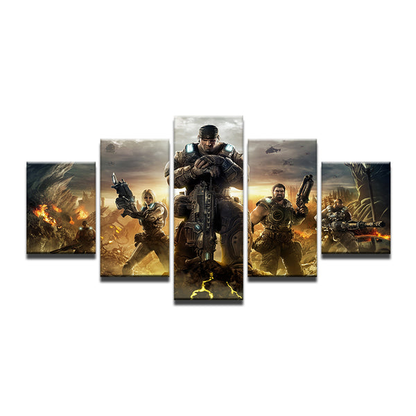 Gears of War 4 5 Panel Canvas Print Wall Art