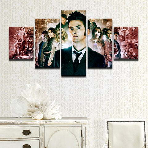 Doctor Who David Tennant 5 Panel Canvas Print Wall Art