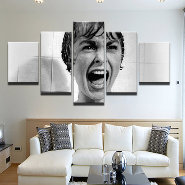Psycho Movie Alfred Hitchcock 5 Panel Canvas Print Wall Art