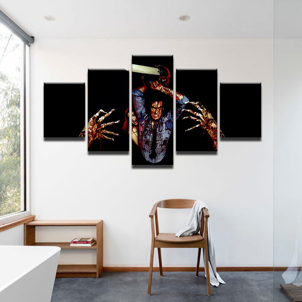 Evil Dead Army Of Darkness 5 Panel Canvas Print Wall Art