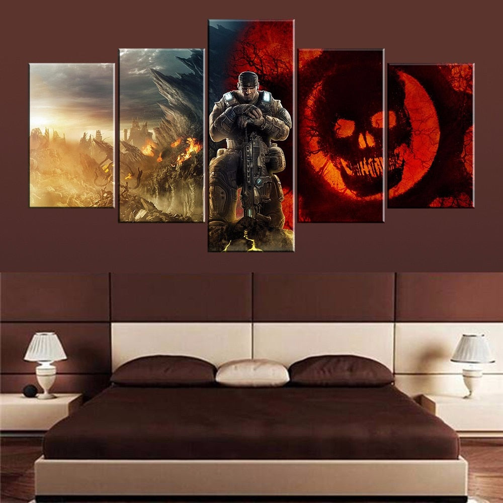 Gears Of War 5 Panel Canvas Print Wall Art