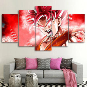 Dragon Ball Goku Super Saiyan 5 Panel Canvas Print Wall Art