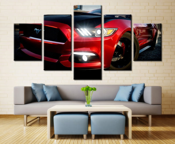 Ford Mustang 5 Panel Canvas Print Wall Art