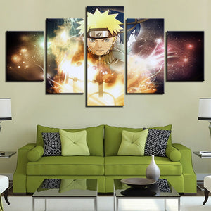 Naruto 5 Panel Canvas Print Wall Art