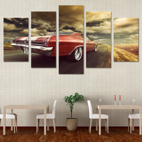 Chevrolet Chevy Chevelle 5 Panel Canvas Print Wall Art