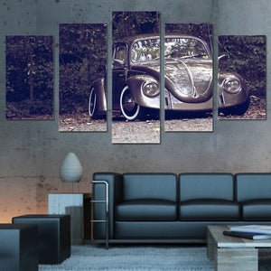 Volkswagen VW Beetle 5 Panel Canvas Print Wall Art
