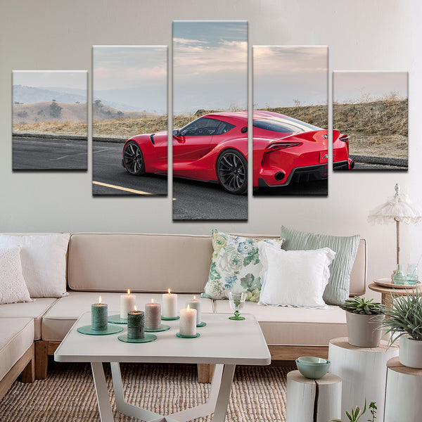 Toyota Supra 5 Panel Canvas Print Wall Art