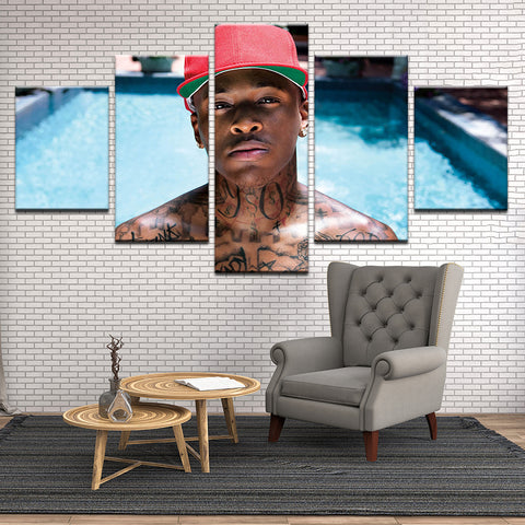 YG 5 Panel Canvas Print Wall Art