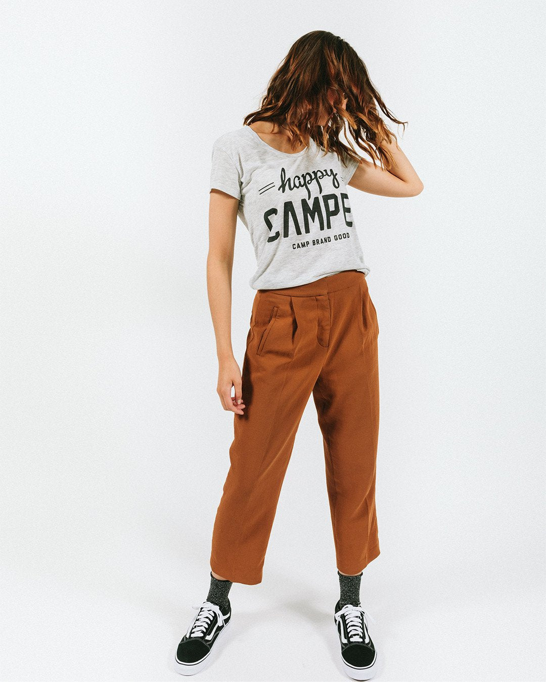 Happy Camper Loose T-Shirt Oatmeal Heather - Our Park Shop