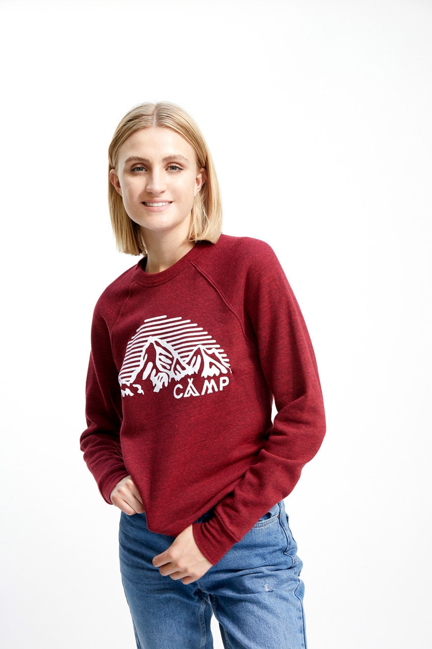 Mountain Arch Crewneck Tri-Red