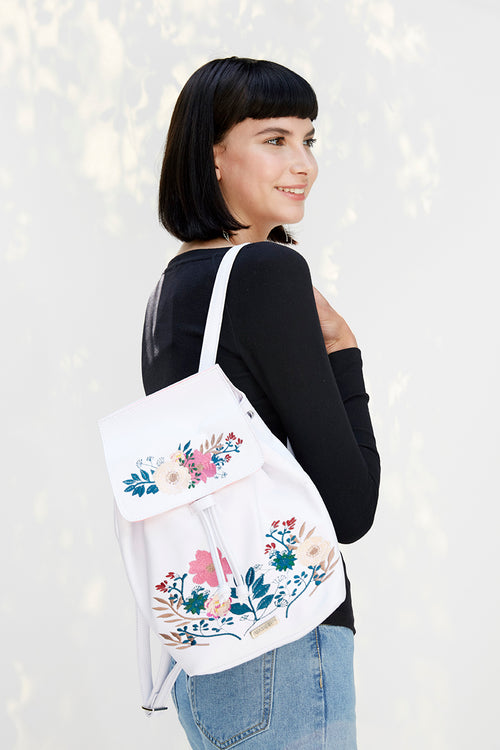 Andrea Mini Backpack | Embroidery