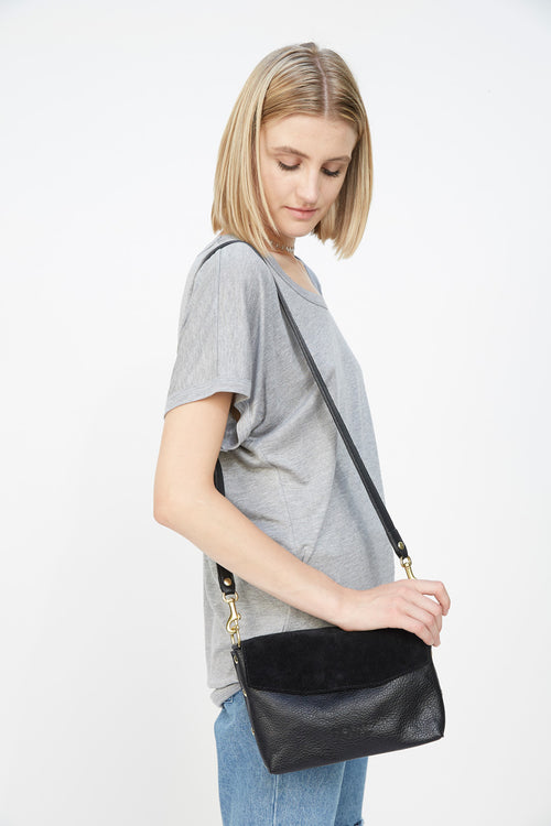 Meraki Town Cross Body - Black Suede
