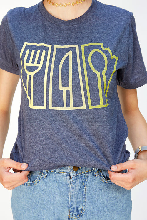 Eat North T-Shirt Grey