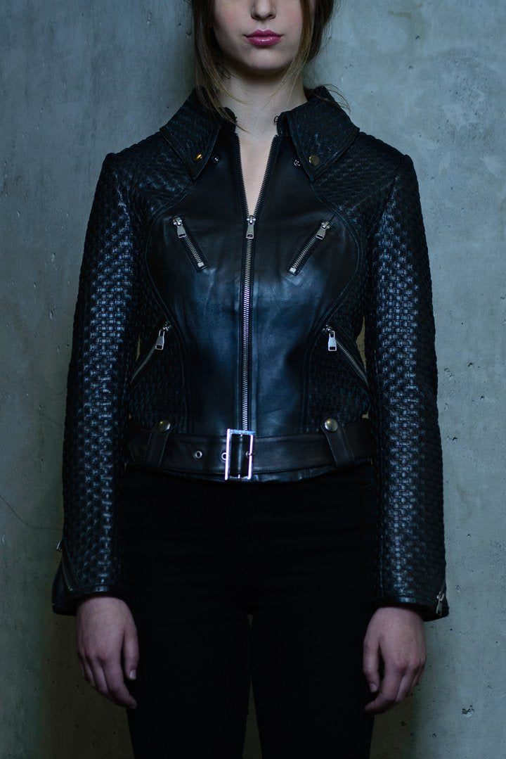 Brooklyn Leather Jacket Black - Our Park Shop
