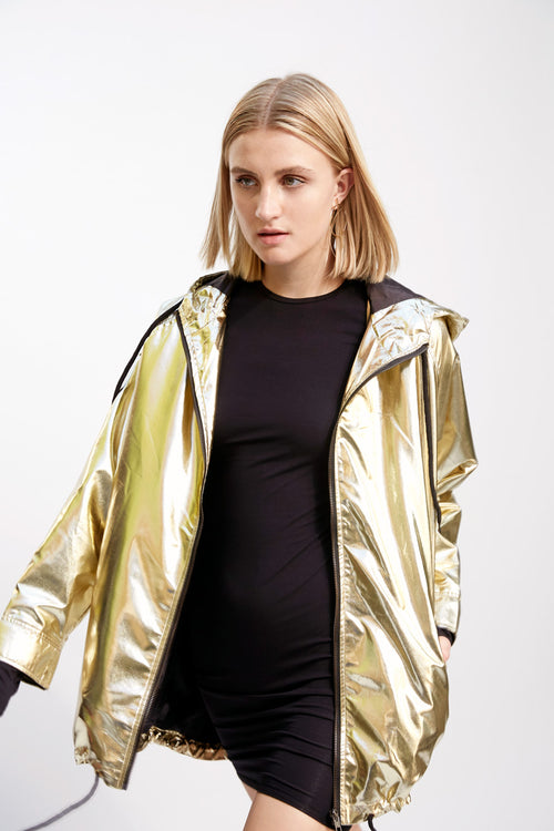Over-Sized Running Jacket Gold