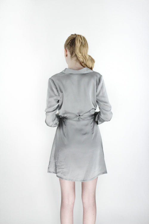Adore Wrap Dress - Grey