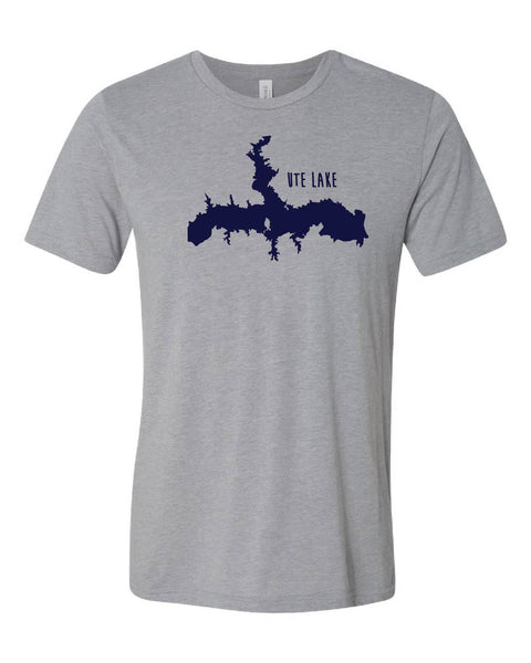 'Ute from above' design on B+C Triblend Tee - Ash Grey Friday T-Shirt Co.