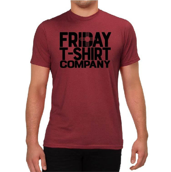 FTS Logo Triblend Tee - Vino Red Shirts Friday T-Shirt Co.