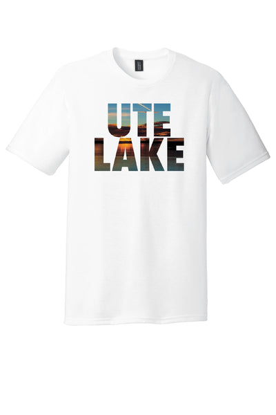 'Ute Sunset' Dye Sublimated design on District® Perfect Tri® Tee. White Friday T-Shirt Co.