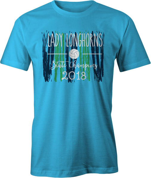 Lady Horns 2018 State Champs Tee Friday T-Shirt Co.