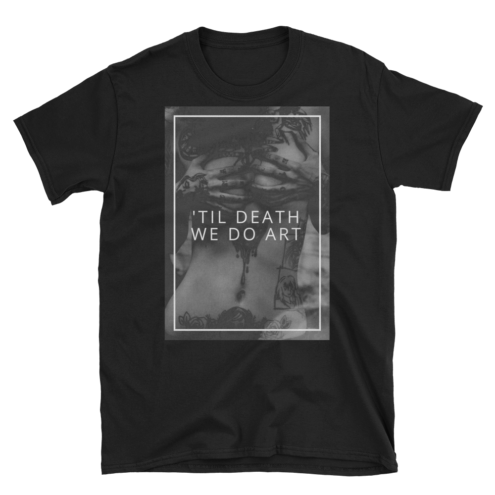 'Til Death We Do Art - Men's/Unisex Short Sleeve T-Shirt - Perspective Clothing