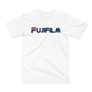 Fujifilm X Fila Bootleg - Men's/Unisex Short Sleeve T-Shirt - Perspective Clothing